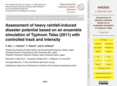 Assessment of Heavy Rainfall-induced Dis... by Oku, Y.