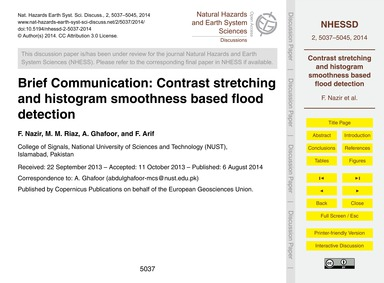 Brief Communication: Contrast Stretching... by Nazir, F.