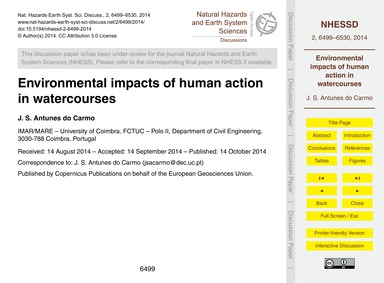 Environmental Impacts of Human Action in... by Antunes Do Carmo, J. S.
