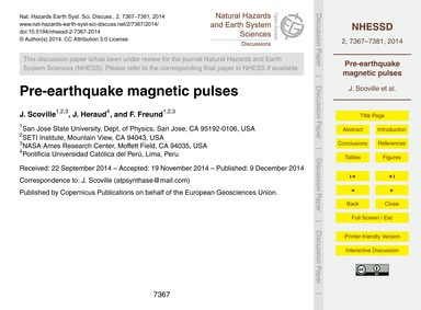 Pre-earthquake Magnetic Pulses : Volume ... by Scoville, J.