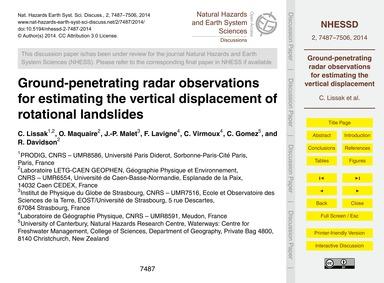 Ground-penetrating Radar Observations fo... by Lissak, C.
