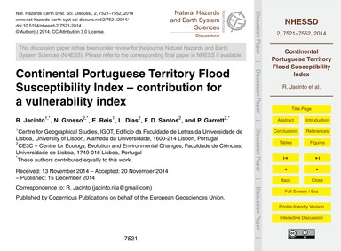 Continental Portuguese Territory Flood S... by Jacinto, R.