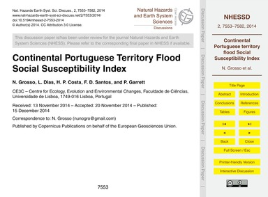 Continental Portuguese Territory Flood S... by Grosso, N.