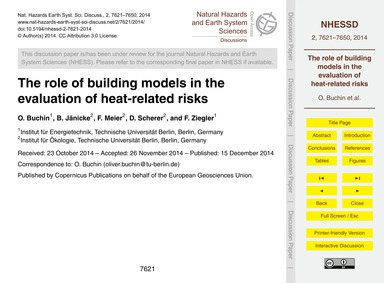 The Role of Building Models in the Evalu... by Buchin, O.
