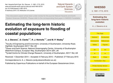 Estimating the Long-term Historic Evolut... by Stevens, A. J.