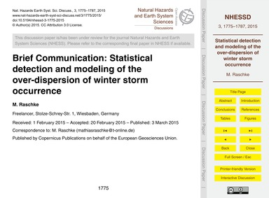 Brief Communication: Statistical Detecti... by Raschke, M.