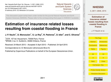 Estimation of Insurance Related Losses R... by Naulin, J. P.