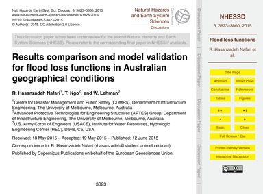 Results Comparison and Model Validation ... by Hasanzadeh Nafari, R.