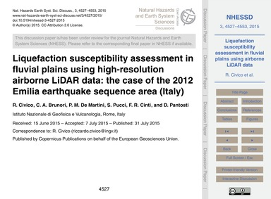 Liquefaction Susceptibility Assessment i... by Civico, R.
