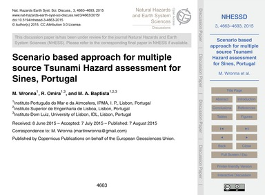Scenario Based Approach for Multiple Sou... by Wronna, M.