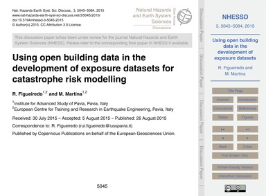 Using Open Building Data in the Developm... by Figueiredo, R.