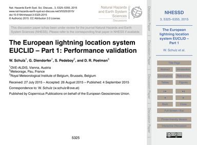 The European Lightning Location System E... by Schulz, W.