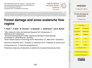 Forest Damage and Snow Avalanche Flow Re... by Feistl, T.