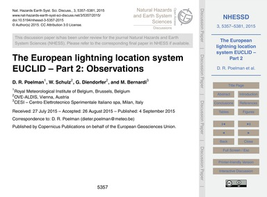 The European Lightning Location System E... by Poelman, D. R.