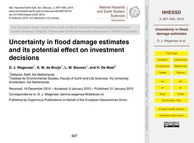 Uncertainty in Flood Damage Estimates an... by Wagenaar, D. J.