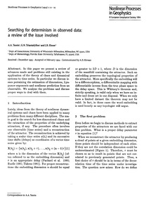 Searching for Determinism in Observed Da... by Tsonis, A. A.