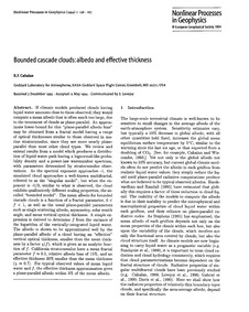 Bounded Cascade Clouds: Albedo and Effec... by Cahalan, R. F.