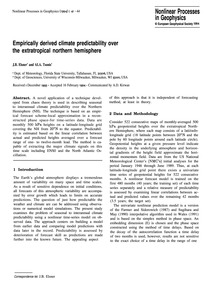 Empirically Derived Climate Predictabili... by Elsner, J. B.
