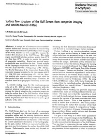 Surface Flow Structure of the Gulf Strea... by Mullen, C. P.