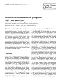 Solitons and Oscillitons in Multi-ion Sp... by Sauer, K.
