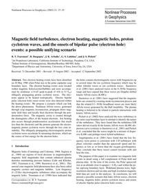 Magnetic Field Turbulence, Electron Heat... by Tsurutani, B. T.