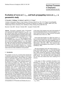 Excitation of Waves at 2 ΩP,e and Back P... by Trávnίček, P.