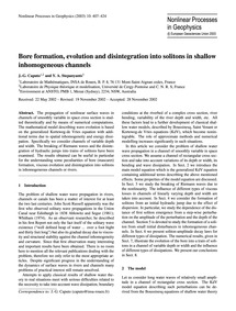 Bore Formation, Evolution and Disintegra... by Caputo, J.-g.