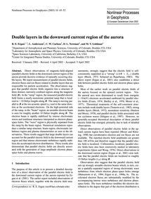 Double Layers in the Downward Current Re... by Ergun, R. E.