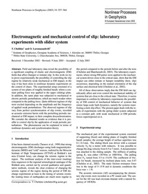 Electromagnetic and Mechanical Control o... by Chelidze, T.