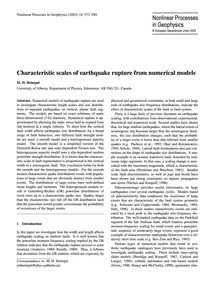 Characteristic Scales of Earthquake Rupt... by Heimpel, M. H.