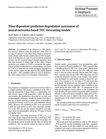 Time-dependent Prediction Degredation As... by Xenos, Th. D.