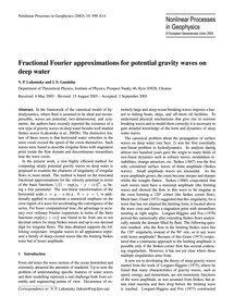 Fractional Fourier Approximations for Po... by Lukomsky, V. P.