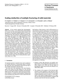 Scaling Similarities of Multiple Fractur... by Kapiris, P. G.