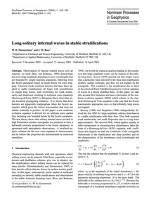 Long Solitary Internal Waves in Stable S... by Zimmerman, W. B.