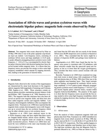 Association of Alfvén Waves and Proton C... by Lakhina, G. S.
