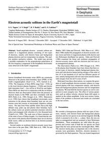 Electron Acoustic Solitons in the Earth'... by Tagare, S. G.