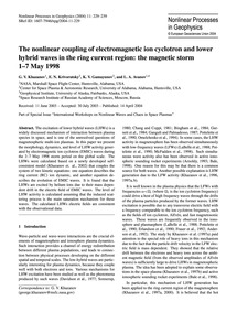 The Nonlinear Coupling of Electromagneti... by Khazanov, G. V.