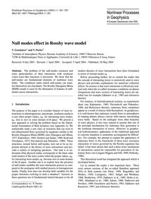 Null Modes Effect in Rossby Wave Model :... by Goncharov, V.
