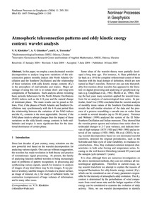 Atmospheric Teleconnection Patterns and ... by Khokhlov, V. N.