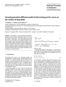 Second Generation Diffusion Model of Int... by Pushkarev, A.