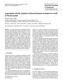 Lagrangian Velocity Statistics of Direct... by Toner, M.