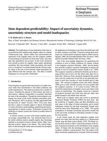 State Dependent Predictability: Impact o... by Khade, V. M.