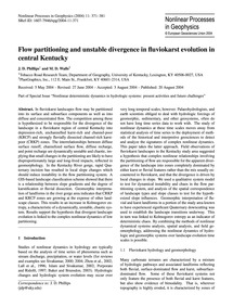Flow Partitioning and Unstable Divergenc... by Phillips, J. D.