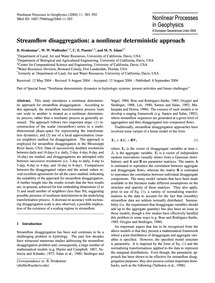 Streamflow Disaggregation: a Nonlinear D... by Sivakumar, B.