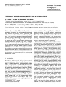 Nonlinear Dimensionality Reduction in Cl... by Gámez, A. J.