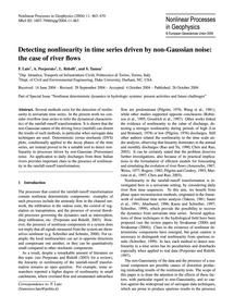 Detecting Nonlinearity in Time Series Dr... by Laio, F.