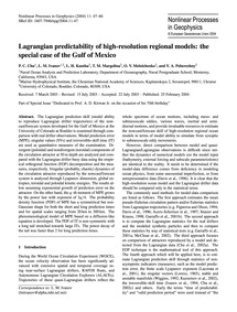 Lagrangian Predictability of High-resolu... by Chu, P. C.