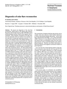 Diagnostics of Solar Flare Reconnection ... by Karlický, M.