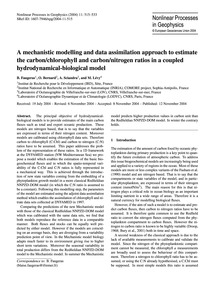 A Mechanistic Modelling and Data Assimil... by Faugeras, B.