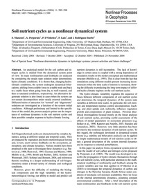 Soil Nutrient Cycles as a Nonlinear Dyna... by Manzoni, S.